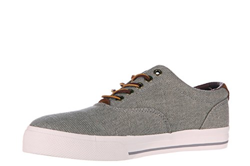 Polo Ralph Lauren Hombres Zapatos Cotton Trainers Sneakers Vaugh Grey