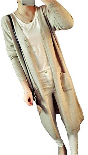 [サコイユ] ロング カーディガン レディース 秋 冬 選べる カラー ニット きれいめ フリーサイズ