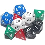 Dice, pack of 10 polyhedron - 00536