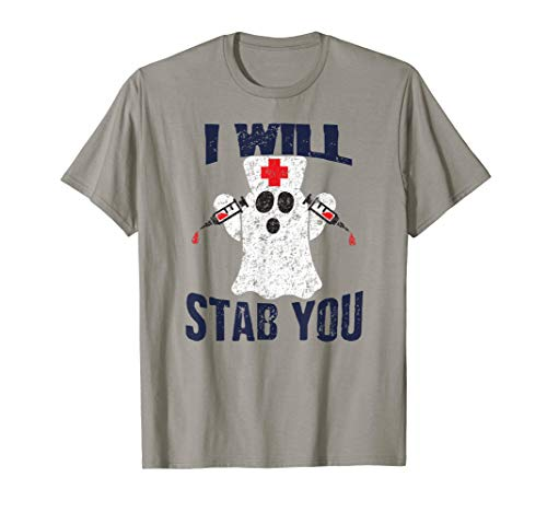 I Will Stab You Ghost Nurse Costume Halloween