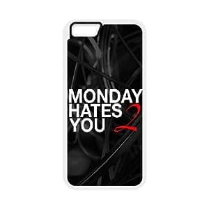 iPhone 6 Plus 5.5 Inch Cell Phone Case White Monday Hates You Kxoju