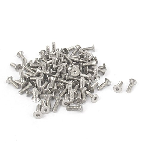 - uxcell M3 x 10mm Metric Hex Socket Countersunk Flat Head Screw Bolts 100PCS