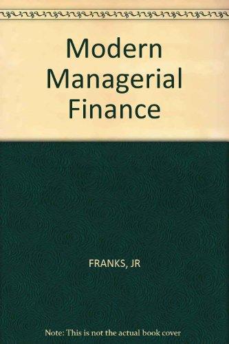 Modern Managerial Finance