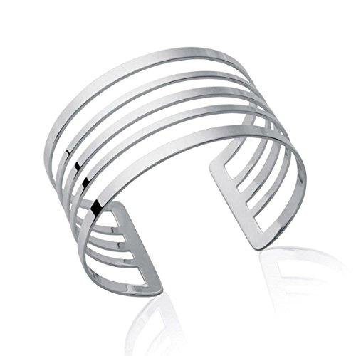 MARY JANE - Bracelet Argent Femme - Diam:58mm / Larg:58mm - Argent 925/000 rhodié (Manchette / Rigide)