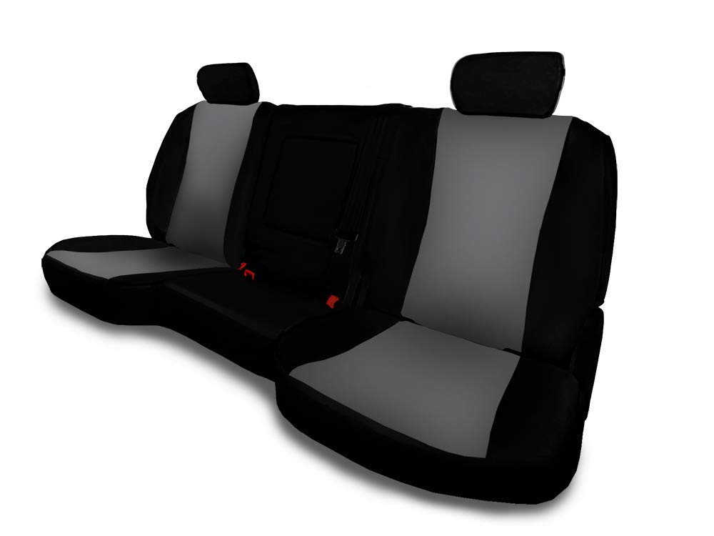 MFK CarsCover Custom Fit 2014-2018 GMC Sierra Neoprene SUV Car Front Seat Covers Gray /& Black Sides Driver /& Passenger Cover