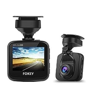 "Dash Cam, FOKEY K1 Car Camera : 2.4"" LCD, 1080P FHD DVR Car Dashboard Camera Recorder with 170° Wide Angle Lens, G-Sensor, HDR, Loop Recording, Night Vision, Parking Monitor"