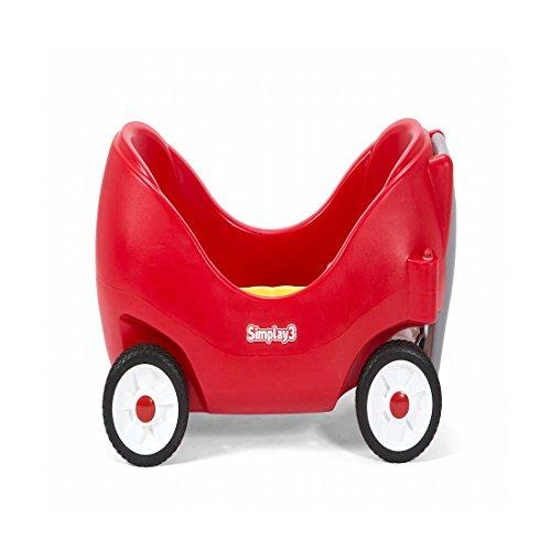 Simplay3 Carro De Espalda Alta Rojo Silencioso para Niños