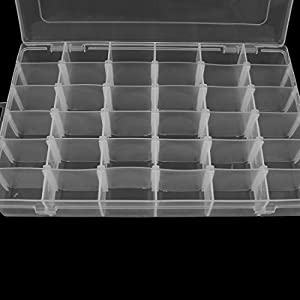 Uxcell a16011800ux1564 Plastic Detachable Storage Organizer Container Box