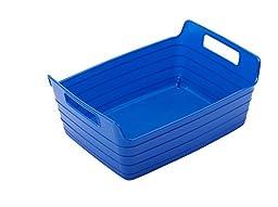 ECR4Kids Small Bendi-Bin with Handles Blue 12/Pack