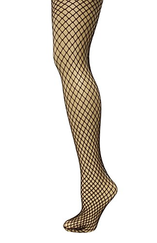 JAVEL Women's Industrial Diamond Net Tights in Coffee
