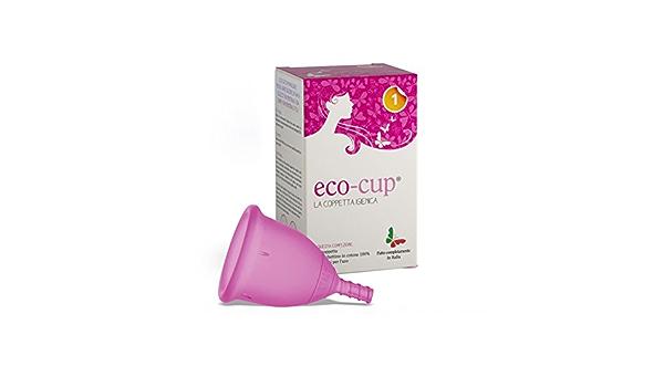 Eco-cup - Copa mental de silicona médica, talla 1, rosa ...