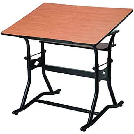 Alvin CraftMaster III Drafting Drawing And Art Table Black Base Cherry Top 30 X 42 CM50 3 WBR