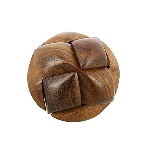 Hand-Crafted Wooden Jigsaw Soccer Ball 3D Brain Teaser Puzzle Game