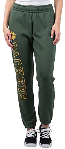 NFL Women's Green Bay Packers Jogger Pants Relax Fit Fleece Sweatpants, Large, Green (Green Bay Packers Apparel)