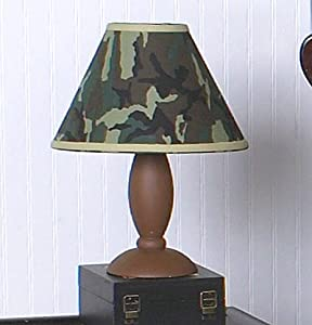 Amazon.com: Sweet Jojo Designs Lamp Shade - Green Camo Army ...