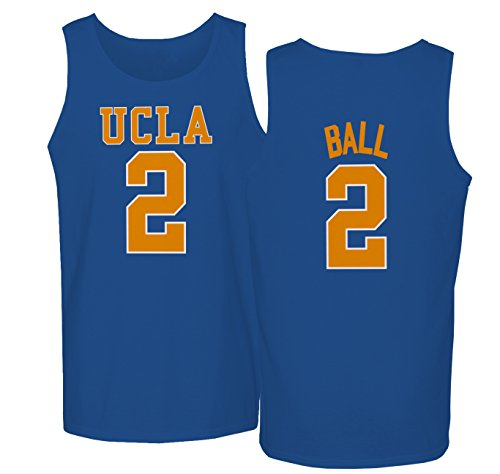 KINGS SPORTS UCLA 2017 Bruins Lonzo Ball 2 College Basketball Men's Tank Top (Royal,S)]()