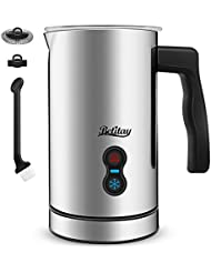 Milk Frother Electric, Betitay Coffee Frother for Essperso Cappuccino, Stainless Steel Milk Steamer Strix Controller System Milk Warmer and Coffee Foam Maker with Non-stick Coating