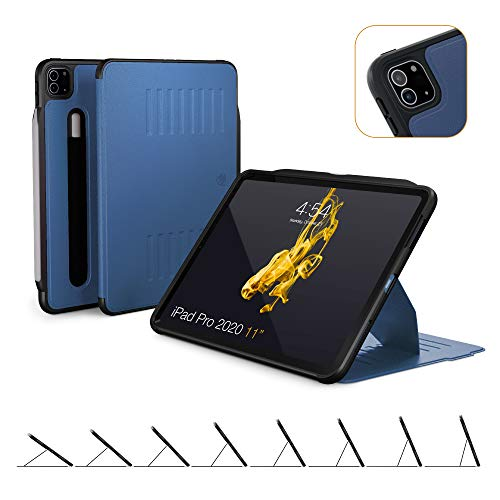 ZUGU CASE (New Model) The Alpha Case for 2020 iPad Pro 11 inch - Ultra Slim Protective Case - Wireless Apple Pencil Charging - Convenient Magnetic Stand & Sleep/Wake Cover (Navy Blue)