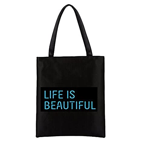 fb201b2a749a Amazon.com  Eco-Friendly 100% 6 OZ Cotton Canvas Tote Bag Shipping ...