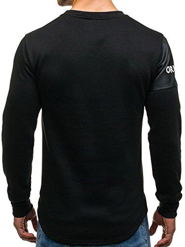 Noir 1a1 Bolf Pullover Sans Imprimé Capuche Homme Moderne – Sweat Motif rxrqzwvg