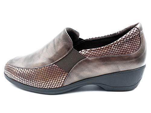 Piel Mocasín Marca Extraible Doctor En De 114 Plantilla Tipo La Zapato Cutillas Y Marrón Con 91824 85SBqT