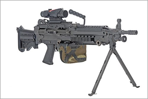 42x63 Poster; The M249 Squad Automatic Weapon Saw Machine Gun