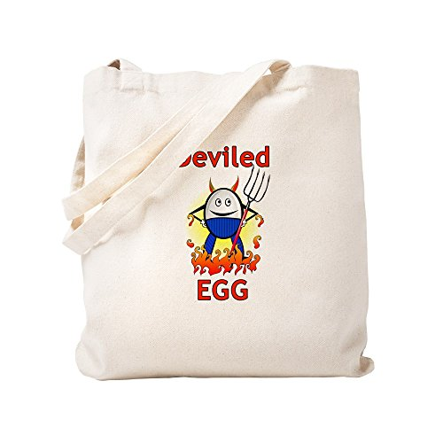 CafePress - Deviled Egg Halloween Trick-Or-Treat Bags - Natural Canvas Tote Bag, Cloth Shopping Bag ()