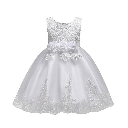 Feitong 1-8 Years Floral Baby Girl No Trailing Princess Bridesmaid Pageant Gown Birthday Party Wedding Dress
