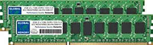 2GB (2 x 1GB) DDR3 1333MHz PC3-10600 240-PIN ECC REGISTRADO DIMM (RDIMM) MEMORIA RAM KIT PARA SERVIDORES/ESTACIONES DE TRABAJO/PLACA BASE (2 RANK KIT NON-CHIPKILL)