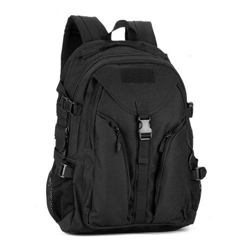 JWBB Estudiante de gran capacidad bolsa, bolsa de ordenador, bolsa para hombro de camuflaje, exterior mochila, mochila impermeable paquete táctico, negro Negro