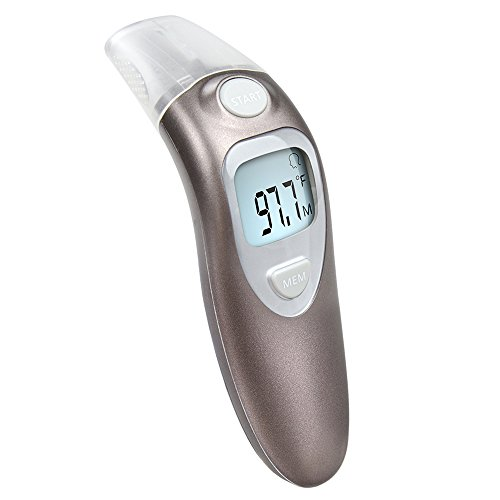 ELERA Forehead and Ear Thermometer Infrared Fever Thermometer for Baby and Adults (Brown) - Infrared Calibration Thermometer
