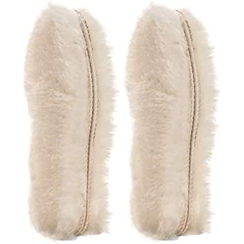2 Pairs Genuine Lambswool Wool Fluffy Insoles Cushioned Inner Sole Shoe Liners