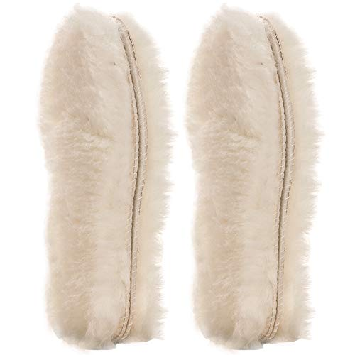 ([2 Pair]REAL Pure Sheepskin Luxury Insoles Sheepskin Lambswool Blended Shoe Insoles | Durable & Fluffy Perfect for Flat ([2-Pairs]US)