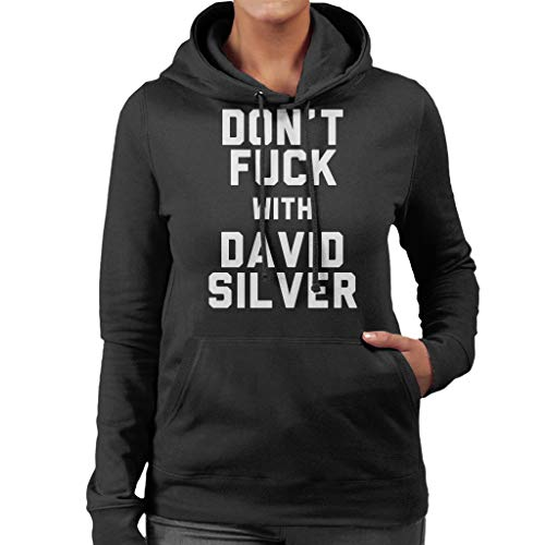 Coto7 Fuck David Women s Sweatshirt With Dont Black Hooded Silver r5qSrR 71790911d55