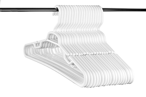 (Neaties USA Made Heavy Duty Extra Large White Plastic Hangers, Set of 18)
