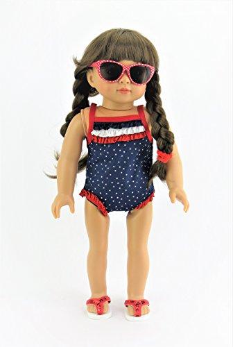 Star Spangled 4-piece Swim Suit Set   Fits 18