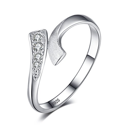 (JewelryPalace Double Row Wrap Round Cubic Zirconia Wedding Promise Ring 925 Sterling Silver Size 7)