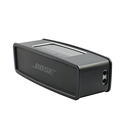 Carry Travel Luxury Metal Air Aluminum Bumper Cover Case for Bose SoundLink Mini 2 & Bose SoundLink Mini Bluetooth Speaker,Fits the Charger(Black)