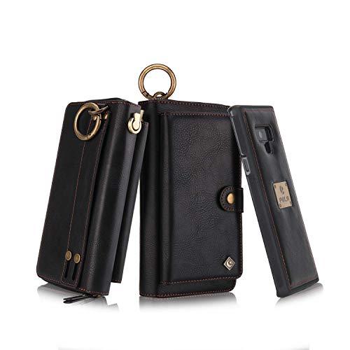 Phone Zipper Wallet PU Detachable Magnetic Car Bracket Pocket Clutch Women Cover