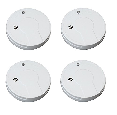 Kidde i9050 Battery Operated Smoke Alarm, White (4 SMOKE ALARMS) by Kidde