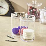 STORi Clear Plastic Cotton Ball and Swab Holder