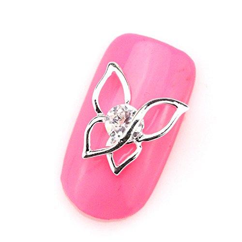 30pcs SH492 3d Nail Art Butterfly Zincon Metal Manicure Gems Accessories