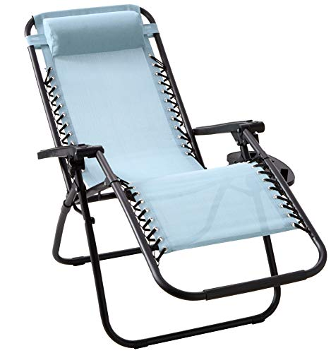 BACKYARD EXPRESSIONS PATIO HOME GARDEN 906647 Anti-Gravity Chair, Seafoam