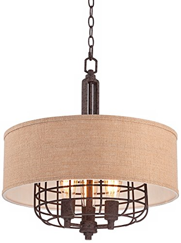 Tremont 20'' Wide Rust Pendant Light by Franklin Iron Works by Franklin Iron Works (Image #3)