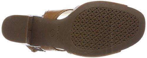 Punta Audalies D con High Abierta B Geox Caramel Mujer Beige Sandalias Sandalo para 1T6q0SfS