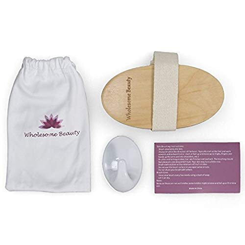 Dry Skin Body Brush - Improves Skin's Health and Beauty - Natural Bristle - Remove Dead Skin and Toxins, Cellulite Treatment, Improves Lymphatic Functions, Exfoliates, Stimulates Blood Circulation 3