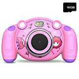 Campark Kids Camera Gifts for 4-8 Year Old Girls, Shockproof Cameras Great Gift