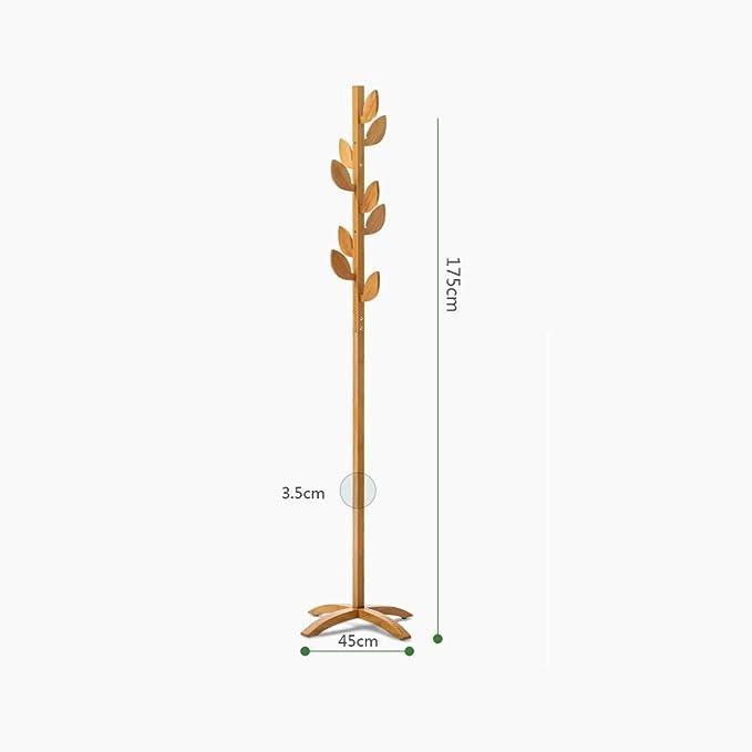 Amazon.com: Perchero de madera maciza de bambú para entrada ...