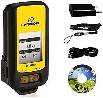 G-PORTER dispositivo multifuncional GPS (amarillo), Kit con cargador USB 110-240V