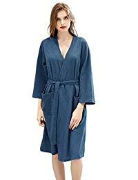 Radient Camille Womens Nightwear Classic Pink Rose Print Quilted Button Front Housecoat Women's Clothing Sleepwear & Robes